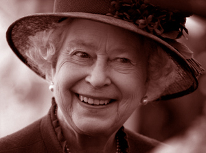 Queen Elizabeth, smiling