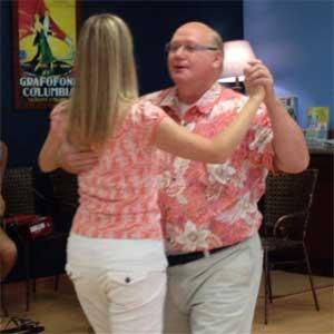 Burks and Linda dnacing at the Ice Cream Social