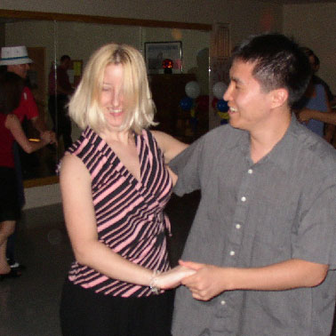 Linda dancing with Jae