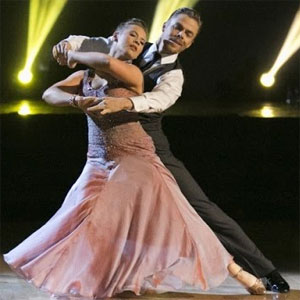 Darek Hough with Bindi Irwin