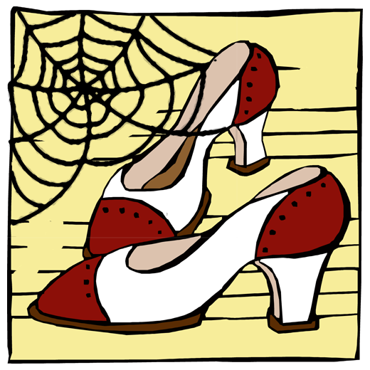 Cobwebby Dance Shoes